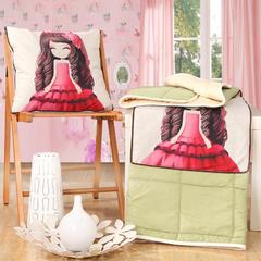棉麻抱枕被系列 (45*45展开115*150cm) 梦幻新娘