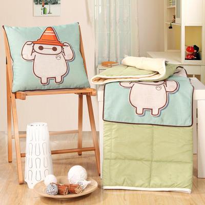 棉麻抱枕被系列 (45*45展开115*150cm) 你好大白