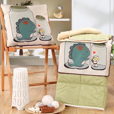 棉麻抱枕被系列 (45*45展开115*150cm) 爱的渴望
