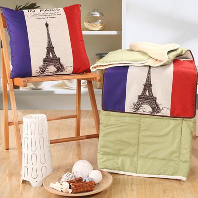 棉麻抱枕被系列 (45*45展开115*150cm) 爱在巴黎