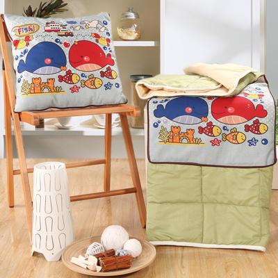 棉麻抱枕被系列 (45*45展开115*150cm) 海的王国