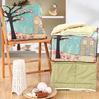 棉麻抱枕被系列 (45*45展开115*150cm) 童话屋