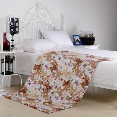 2020新款全棉印花抱枕被系列 小号(40*40展开105*150cm) 熊宝宝