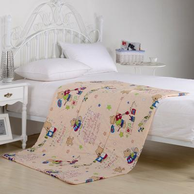 全棉印花抱枕被系列 小号(40*40展开105*150cm) 音乐小熊