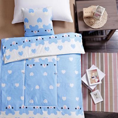 全棉印花抱枕被系列 小号(40*40展开105*150cm) 快乐小熊