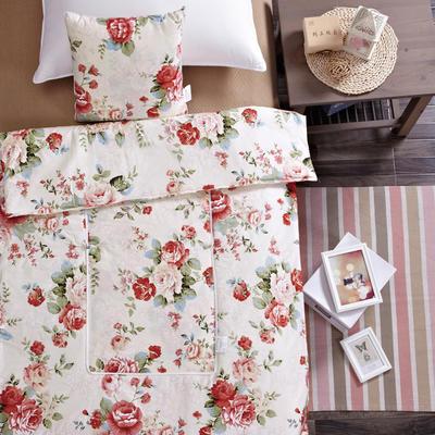 全棉印花抱枕被系列 小号(40*40展开105*150cm) 美丽花园