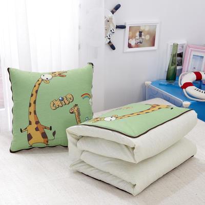 数码印花抱枕被系列 小号(40*40展开100*150cm) 长劲鹿