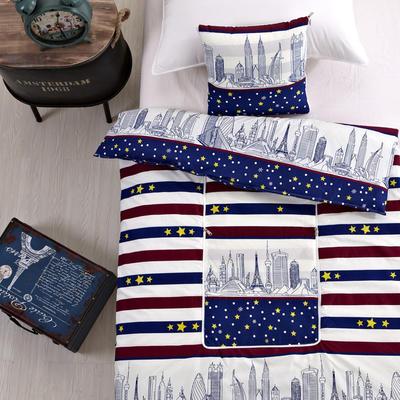 2020新款优舒绒印花抱枕被系列 小号(40*40展开100*150cm) 巴黎街景