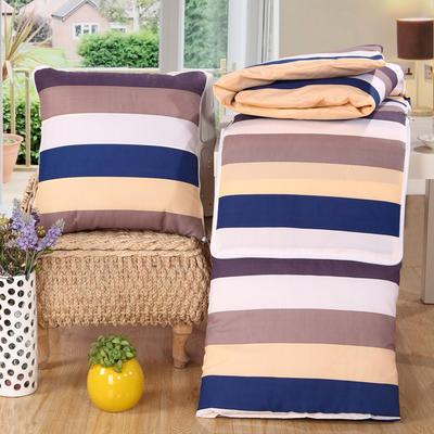 优舒绒印花抱枕被系列 小号(40*40展开100*150cm) 多彩