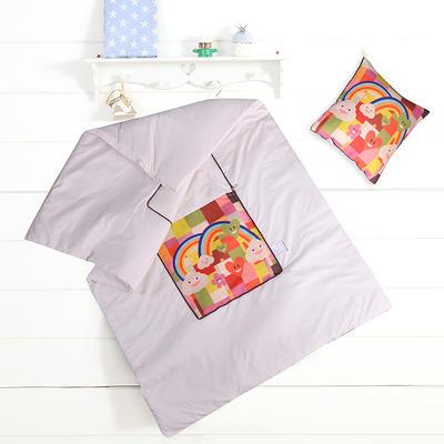 2020新款数码印花抱枕被系列 小号(40*40展开100*150cm) 彩色心情