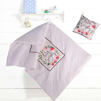 2020新款数码印花抱枕被系列 小号(40*40展开100*150cm) 花环
