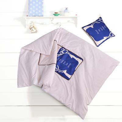 数码印花抱枕被系列 小号(40*40展开100*150cm) 双鹿