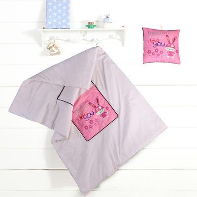 数码印花抱枕被系列 小号(40*40展开100*150cm) 可爱兔子