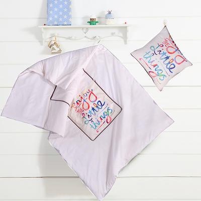 数码印花抱枕被系列 小号(40*40展开100*150cm) 快乐字母
