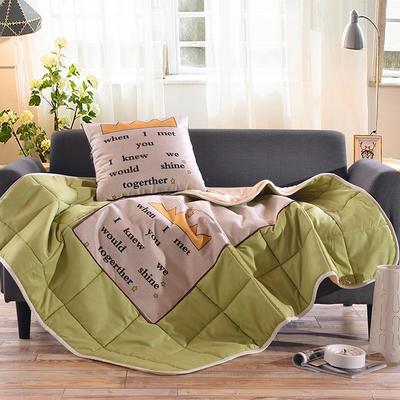 棉麻抱枕被系列 (45*45展开115*150cm) 当我遇见你