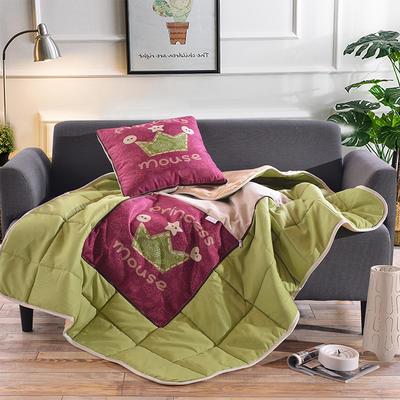 棉麻抱枕被系列 (45*45展开115*150cm) 皇冠