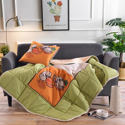 棉麻抱枕被系列 (45*45展开115*150cm) 假日生活