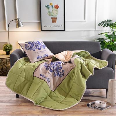棉麻抱枕被系列 (45*45展开115*150cm) 青花瓷