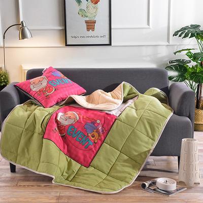 棉麻抱枕被系列 (45*45展开115*150cm) 圣诞老人