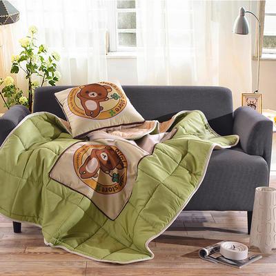 棉麻抱枕被系列 (45*45展开115*150cm) 熊的故事