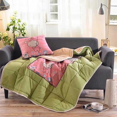 棉麻抱枕被系列 (45*45展开115*150cm) 雨中漫步