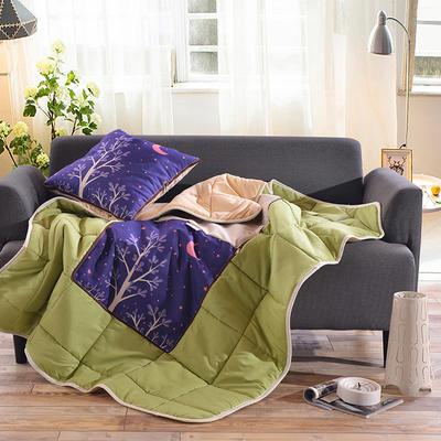 棉麻抱枕被系列 (45*45展开115*150cm) 月夜