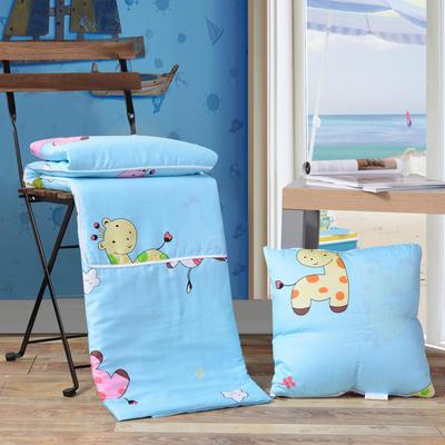 全棉印花抱枕被系列 小号(40*40展开105*150cm) 动物乐园