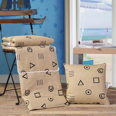 全棉印花抱枕被系列 小号(40*40展开105*150cm) 卡斯诺
