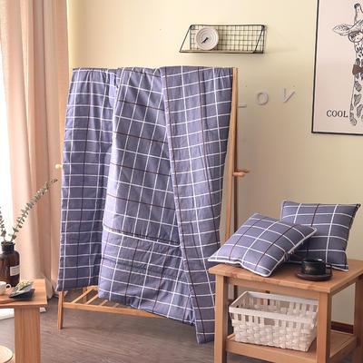 2021新款全棉印花抱枕被系列 大号50*50展开150*195cm) 几何空间