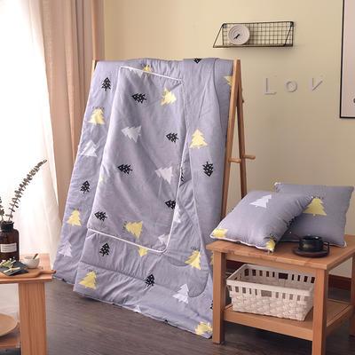 全棉印花抱枕被系列 小号(40*40展开105*150cm) 圣诞树(灰)