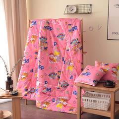 全棉印花抱枕被系列 小号(40*40展开105*150cm) 汪汪队红
