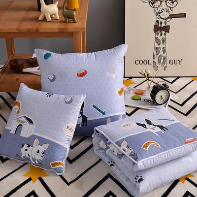 优舒绒印花抱枕被系列 小号(40*40展开100*150cm) 单身狗