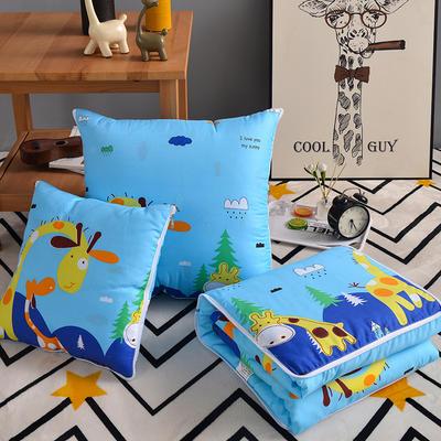 2020新款优舒绒印花抱枕被系列 小号(40*40展开100*150cm) 阳光小鹿