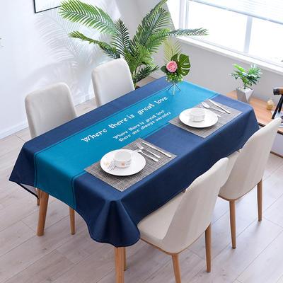 2020新款-ins风防水桌布 40*60/一对 蓝色之恋