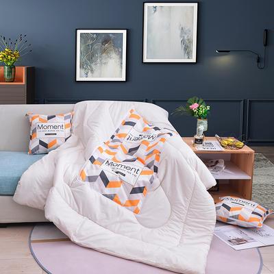 2019新款-3D麻布抱枕被 小号40x40展开100*150 美好时光