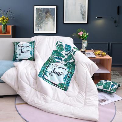 2020新款-3D麻布抱枕被 小号40x40展开100*150 暖夏