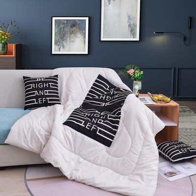 2019新款-3D麻布抱枕被 小号40x40展开100*150 向左向右
