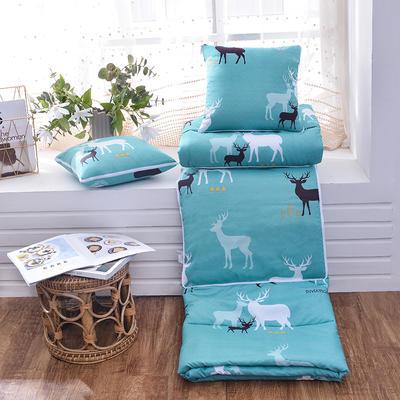 2021新款优舒绒印花抱枕被系列 大号(50*50展开150*190cm) 和平小鹿