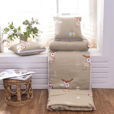 2020新款优舒绒印花抱枕被系列 小号(40*40展开100*150cm) 可爱的鹿