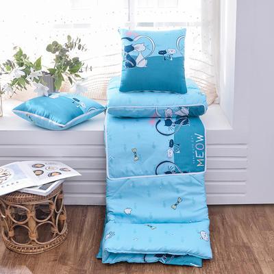 2021新款优舒绒印花抱枕被系列 大号(50*50展开150*190cm) 两只猫