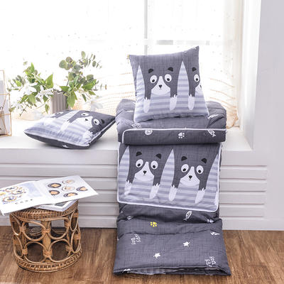 2021新款优舒绒印花抱枕被系列 大号(50*50展开150*190cm) 猫和鱼