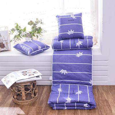 2020新款优舒绒印花抱枕被系列 小号(40*40展开100*150cm) 王者