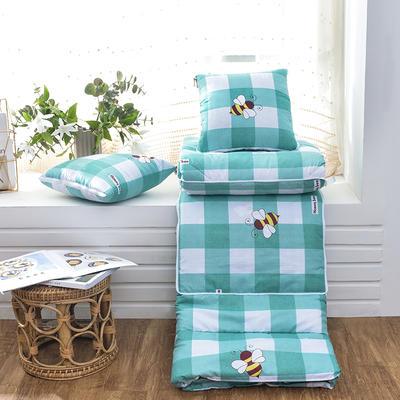 2021新款优舒绒印花抱枕被系列 大号(50*50展开150*190cm) 小蜜蜂
