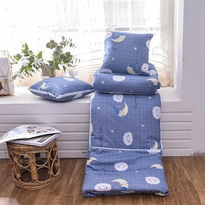 2021新款优舒绒印花抱枕被系列 大号(50*50展开150*190cm) 月亮云朵