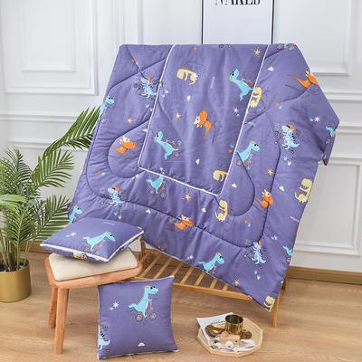 2020新款优舒绒印花抱枕被系列 小号(40*40展开100*150cm) 小恐龙