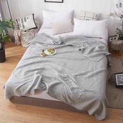 无印良品天竺棉针织棉夏被子 全棉夏凉被 纯棉空调被 1.8*2.0m 波纹灰色