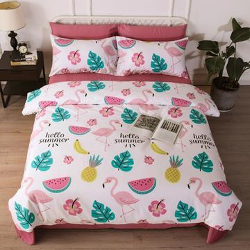 40支13372全棉四件套小清新纯棉4件套可单独加素色床单/枕套一对
