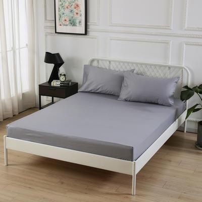 丽涵家纺  全棉13372纯色单品素色床笠 单件床笠 150cm*200cm 灰色