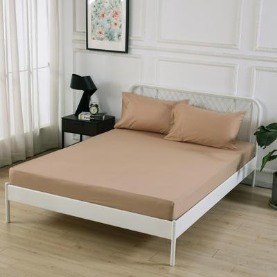 丽涵家纺  全棉13372纯色单品素色床笠 单件床笠 150cm*200cm 驼色