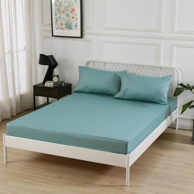 丽涵家纺  全棉13372纯色单品素色床笠 单件床笠 150cm*200cm 深绿